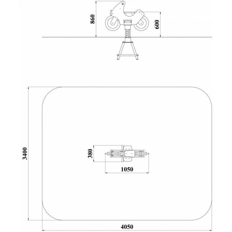 ДИО 4.041 Качалка на пружине Мотоцикл ДПС