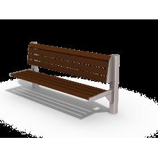 МФ 1.50 Лавочка Сити (Деревянный брус)