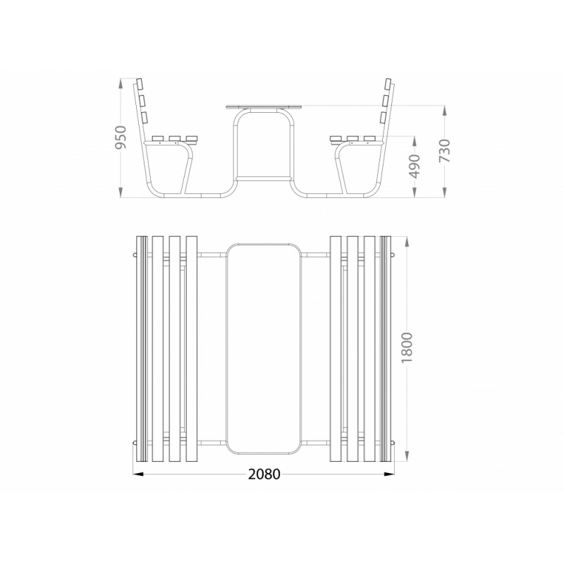 МФ 2.05 Столик со скамейками