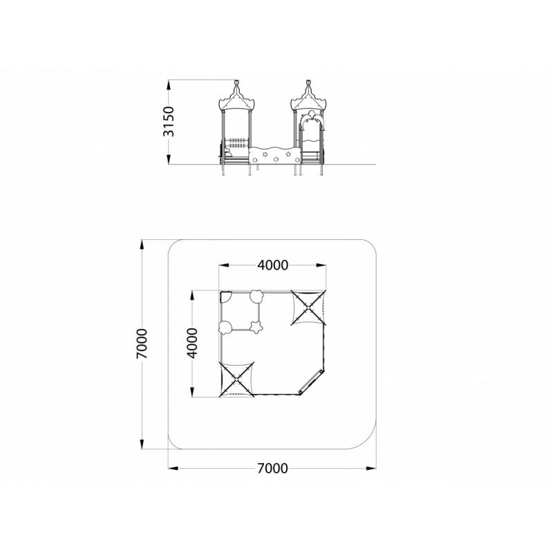 МФ 3.251 Песочный дворик Коралл без горки