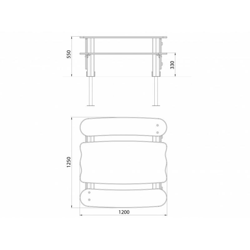 МФ 2.10 Столик Лунтик