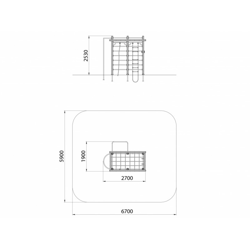 СО 1.30 Спортивный комплекс Шведская стенка с шестом