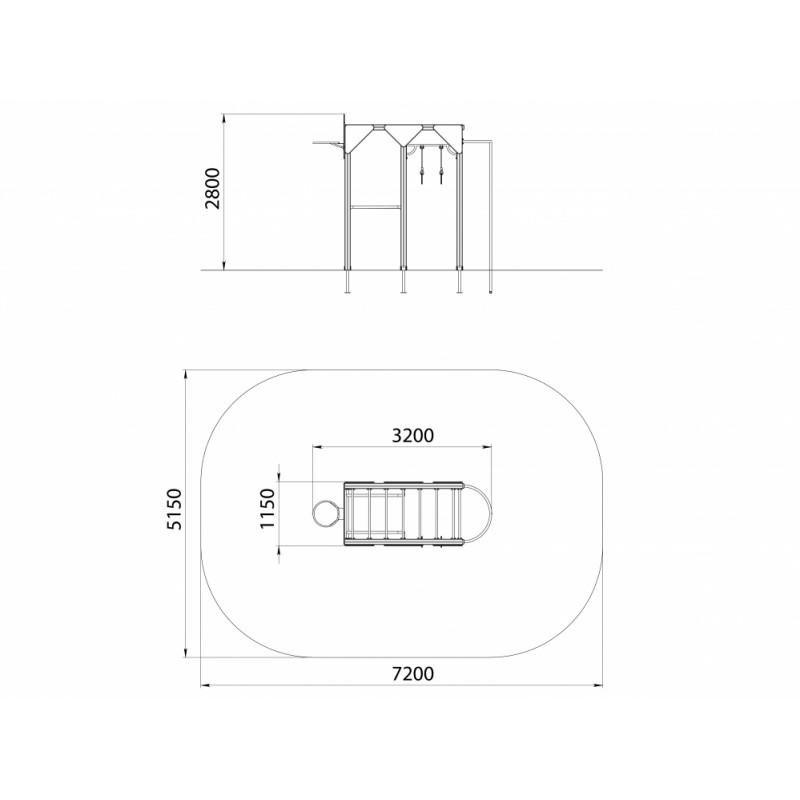 СО 1.01 Спортивный комплекс баскетбольный с шестом