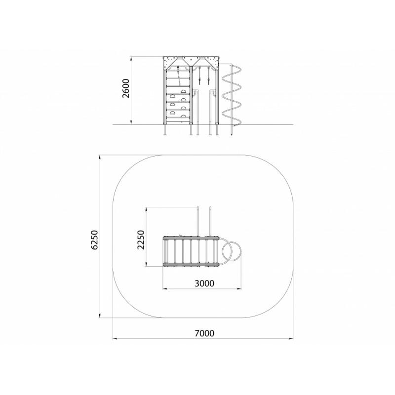 СО 1.09-15 Спортивный комплекс Рукоход со спиралью