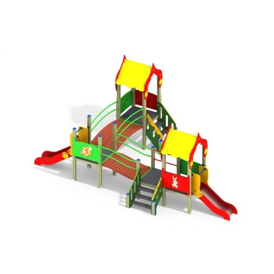 ДИК 3.174 Детский игровой комплекс Зверушки Н=900, Н=700