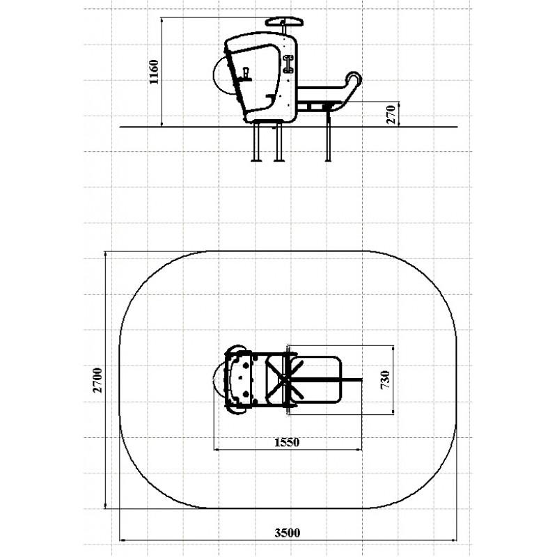 МФ 1.34 Лавочка Вертолетик
