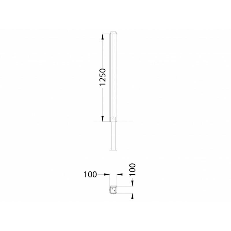 МФ 7.11 Столб деревянный