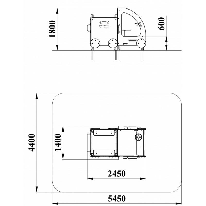МФ 4.01 Машинка без горки