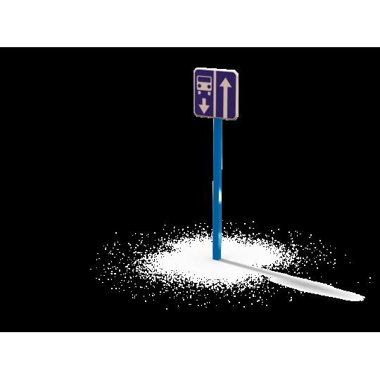 ДОУ 6.03 Знак Дорога с полосой маршрутных ТС в сборе