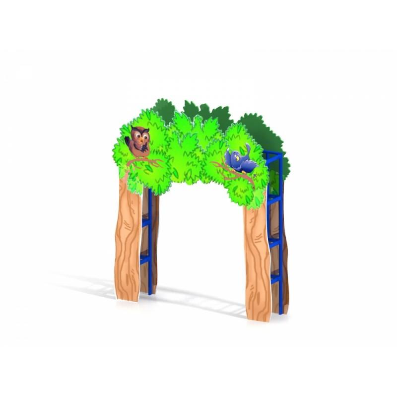 МФ 7.21 Входная арка с росписью Лес