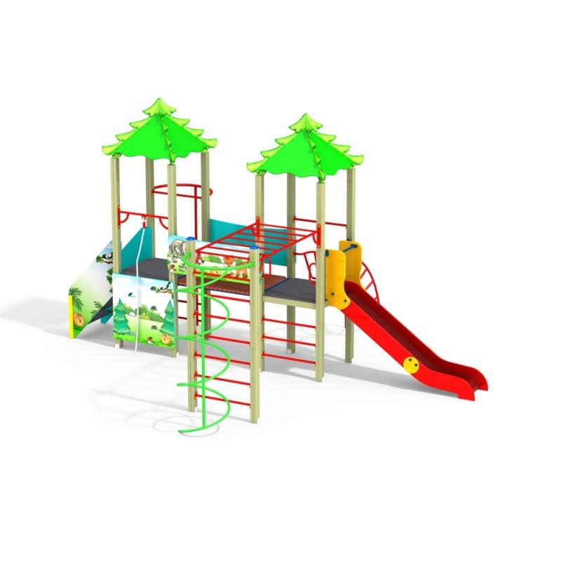 ДИК 2.40 Детский игровой комплекс Колобок Н=1200