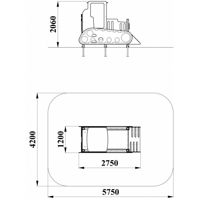 МФ 4.10 Бульдозер без горки