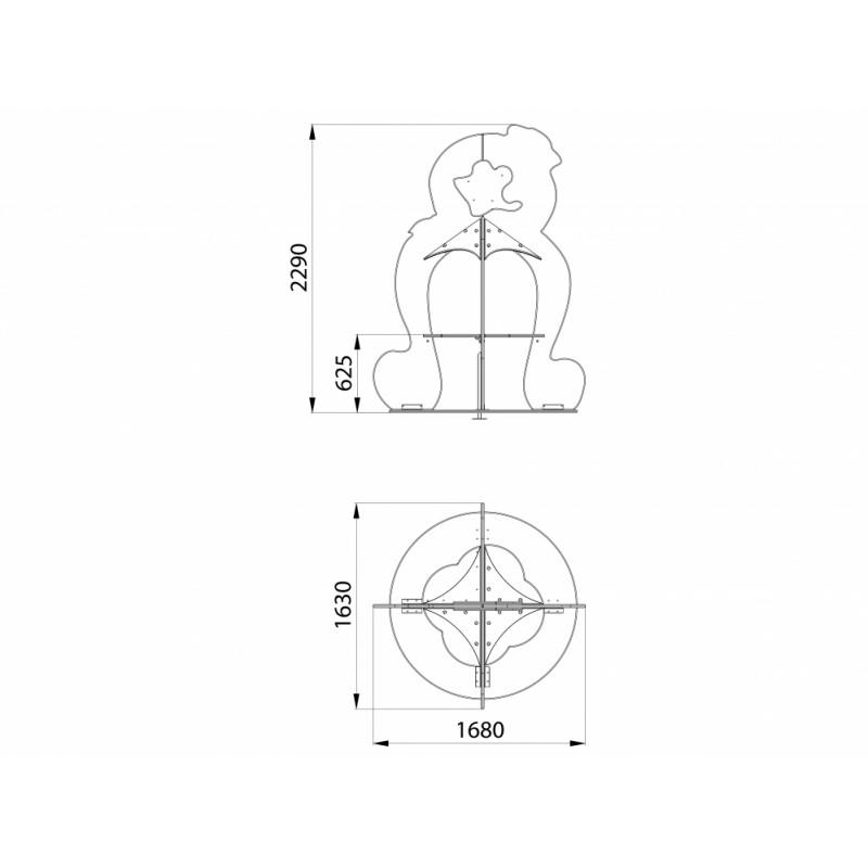 МФ 2.11 Столик Осьминог