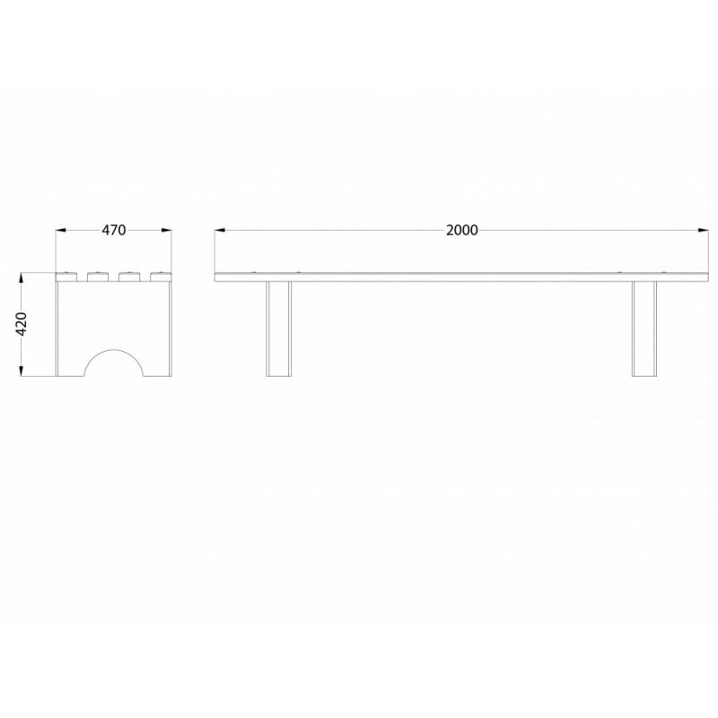 МФ 1.15 Лавочка бетонная