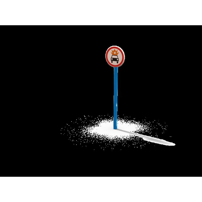 ДОУ 6.32 Знак Движение ТС с взрывчатыми легковоспламеняемыми грузами запрещено