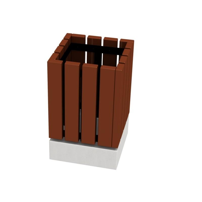 МФ 6.061 Урна деревянная на ж/б основании