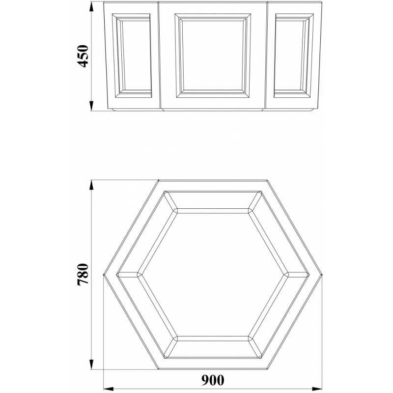 МФ 6.09 Вазон шестигранный