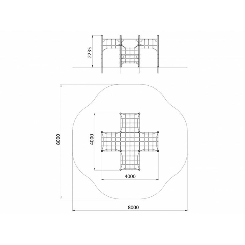СО 1.102-с26/20 Спортивный комплекс Паутина большая