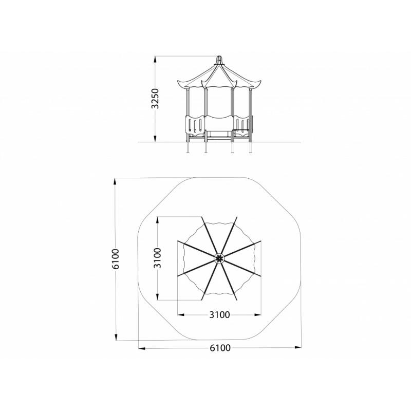 МФ 5.21-15 Домик-беседка Пагода
