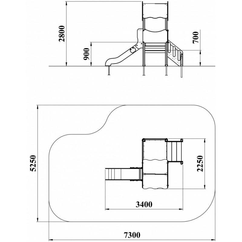 ДИК 2.13-16 Детский игровой комплекс Мини Н=900