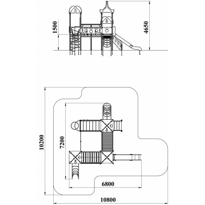 ДИК 3.214 Детский игровой комплекс Шахматы Н=1500