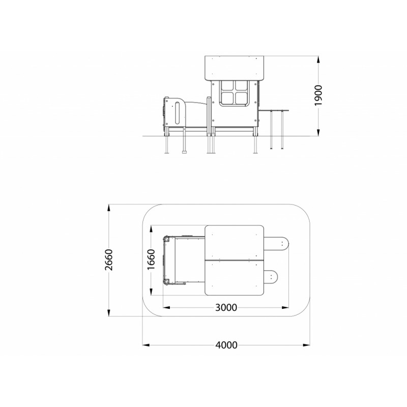 МФ 5.252 Домик Крошка с внешними столиком и скамейкой