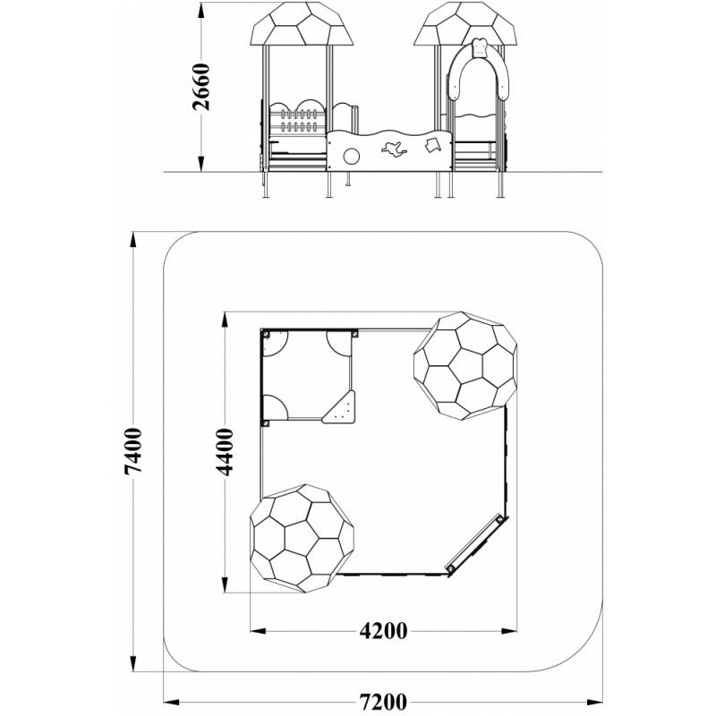 МФ 3.541 Песочный дворик Футбол без горки