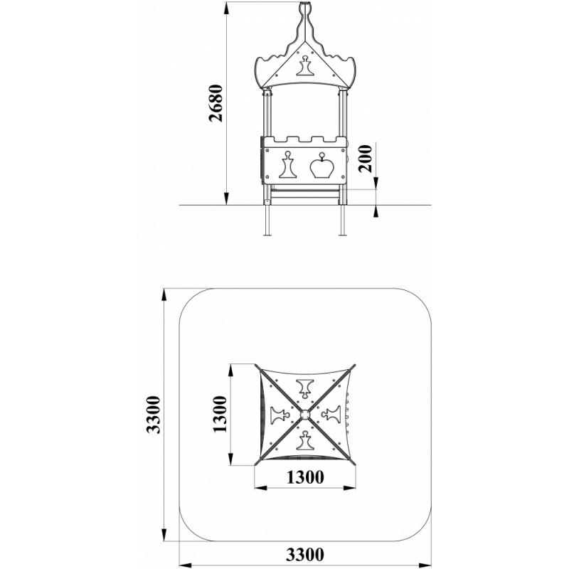 МФ 5.244 Домик-беседка Шахматы