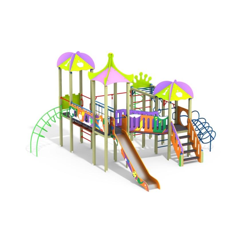 ДИК 3.212 Детский игровой комплекс Джунгли граффити Н=1500