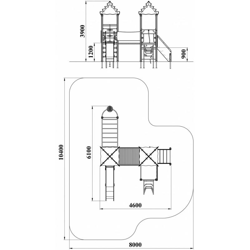 ДИК 2.41 Детский игровой комплекс Райские птицы Н=1200