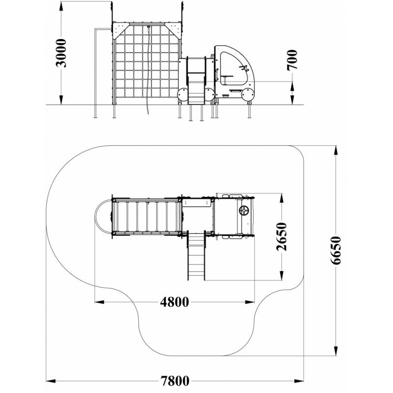 МФ 4.022 Пожарная машина с горкой Н=700