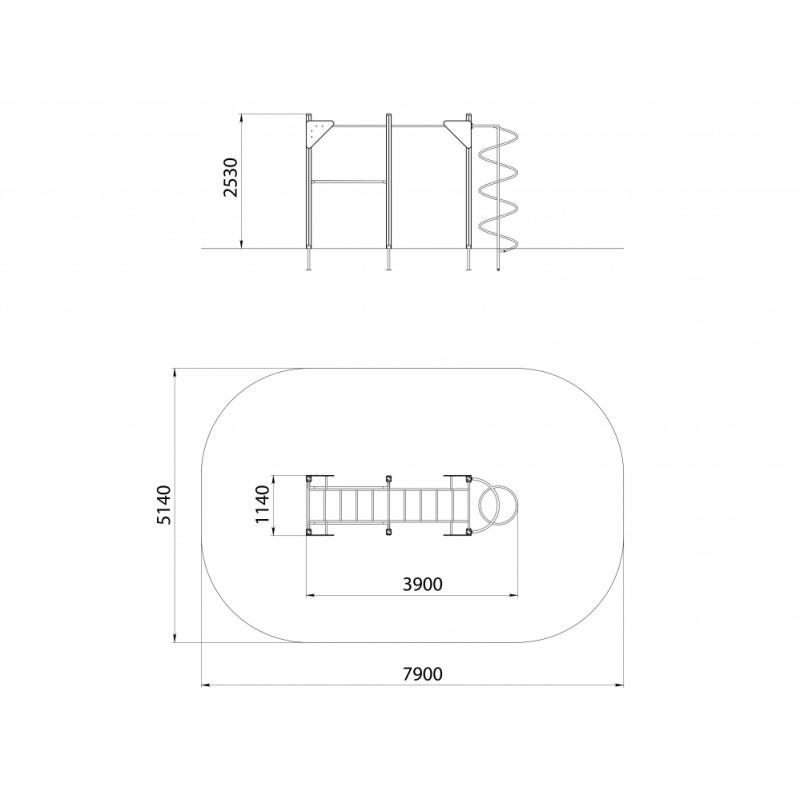 СО 1.013 Спортивный комплекс Параллельный брус с рукоходом