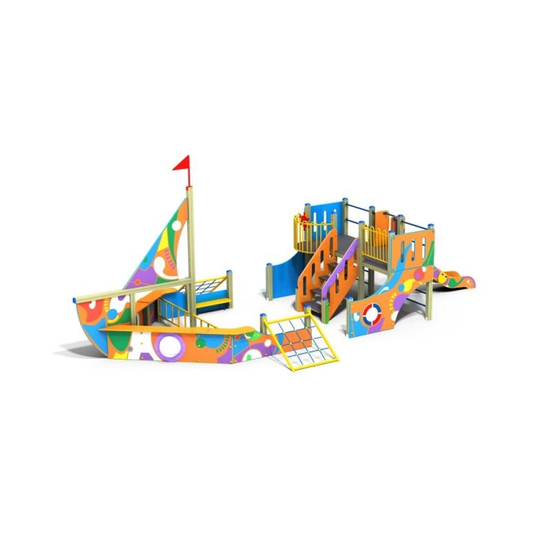 ДИК 3.091 Детский игровой комплекс Яхта граффити Н 1200