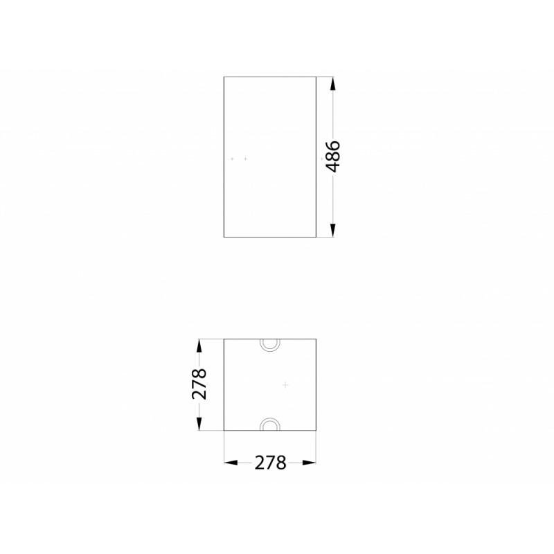 МФ 6.062 Вставка урны квадратная для урны деревянной