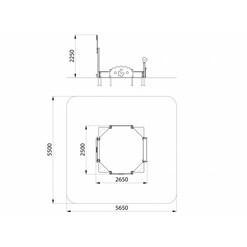 МФ 3.111 Песочница со спойлером и аркой