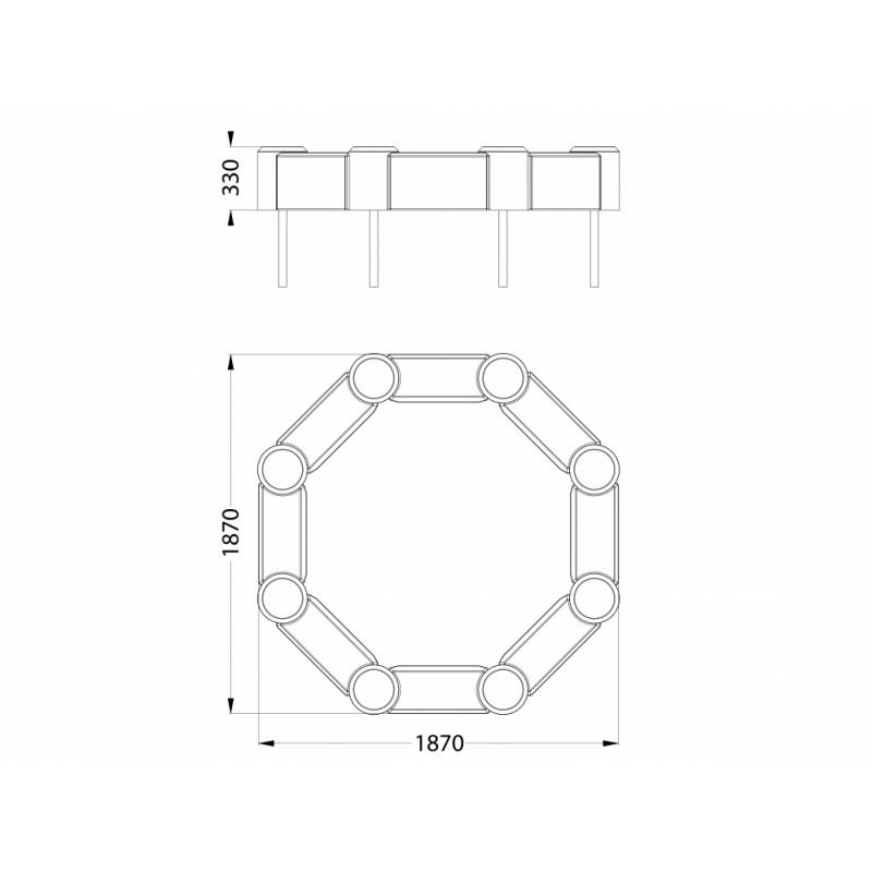 РМФ 3.02 Песочница восьмигранная