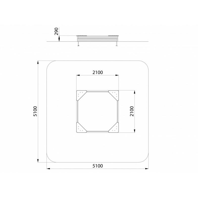 МФ 3.011 Песочница L=2000 мм