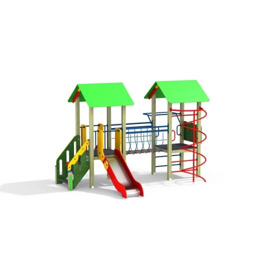 ДИК 2.271 Детский игровой комплекс Веселый мостик со спиралью Н=900