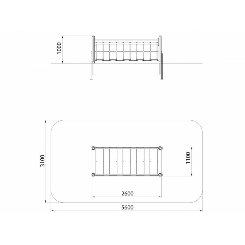 СО 3.10 Подвесной мостик на столбах