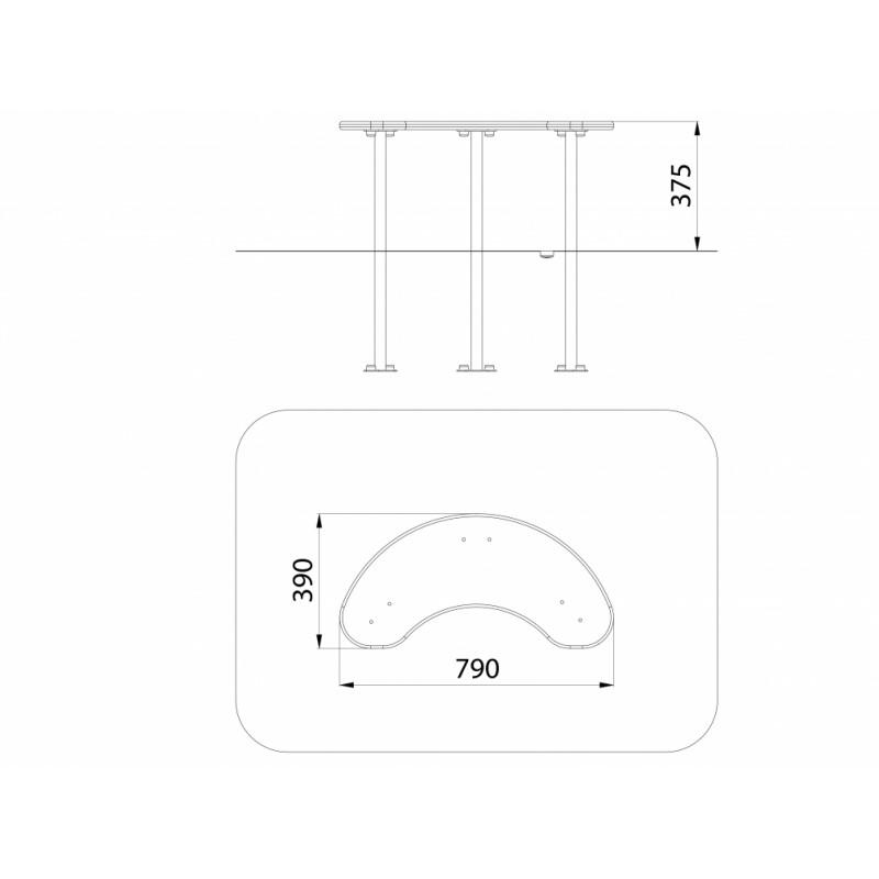 МФ 3.052 Столик для песочницы овальный