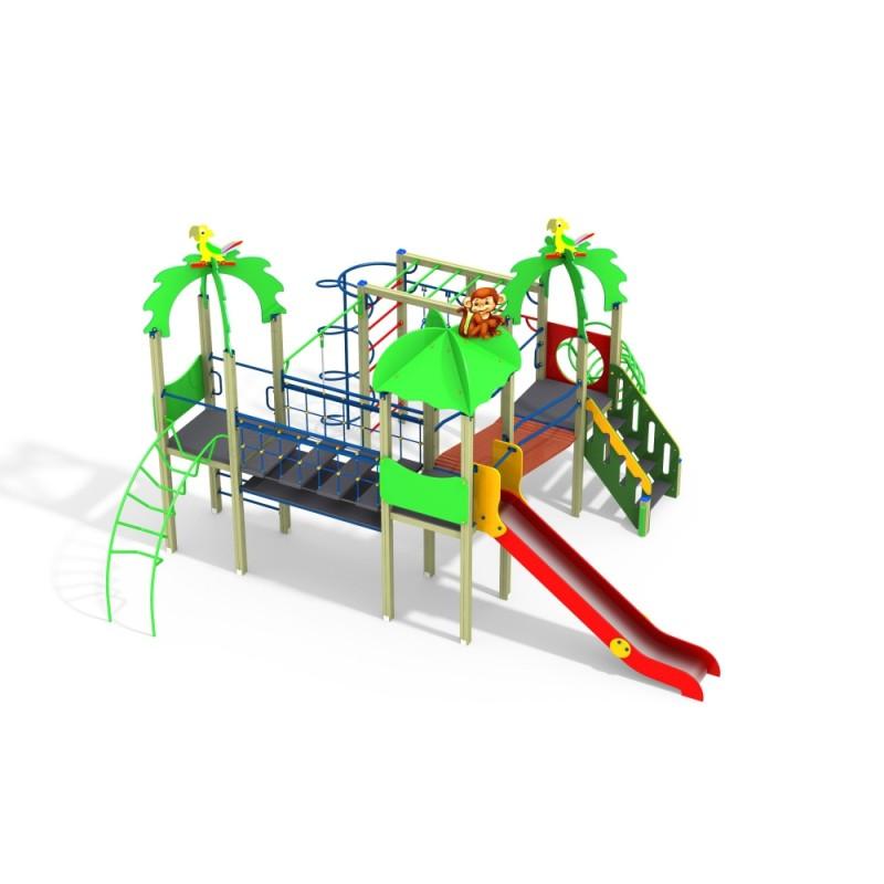 ДИК 3.215 Детский игровой комплекс Зоопарк Н=1500