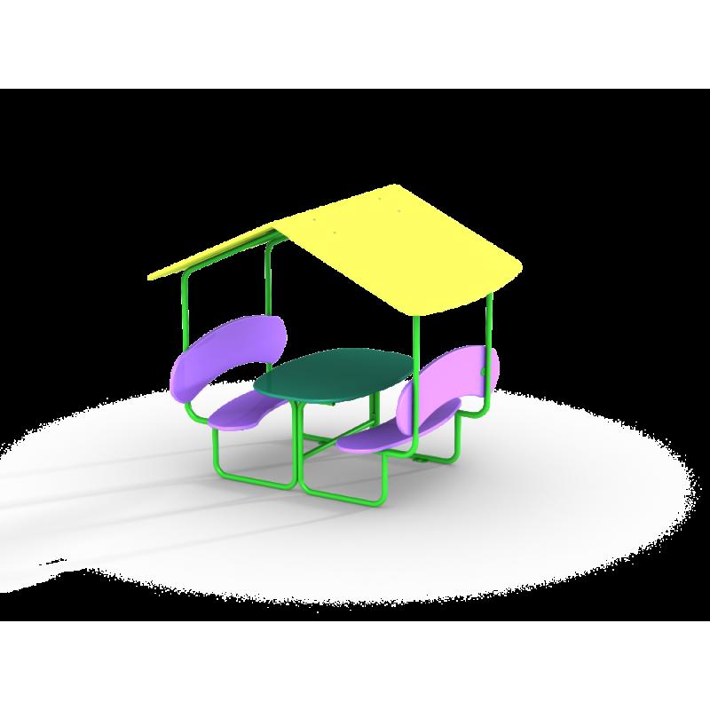 МФ 2.031-16 Столик со скамейками и навесом