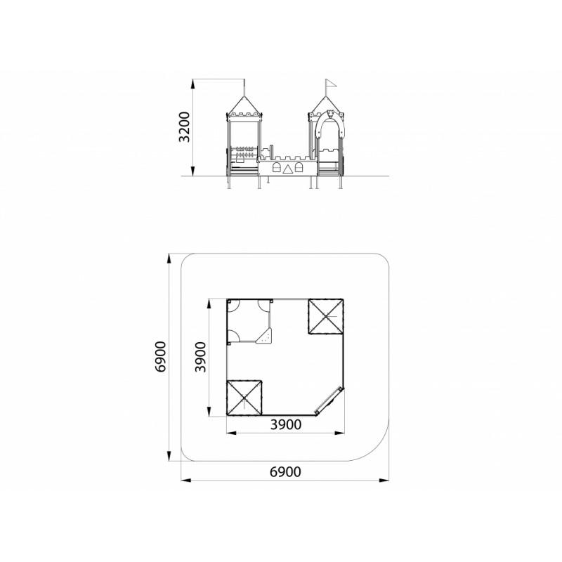 МФ 3.234 Песочный дворик ДПС без горки