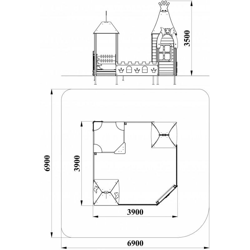 МФ 3.261 Песочный дворик Белоснежка без горки