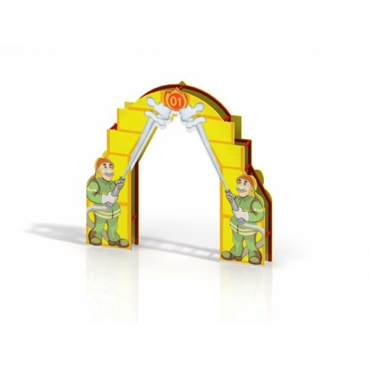 МФ 7.22 Входная арка с росписью Пожарные