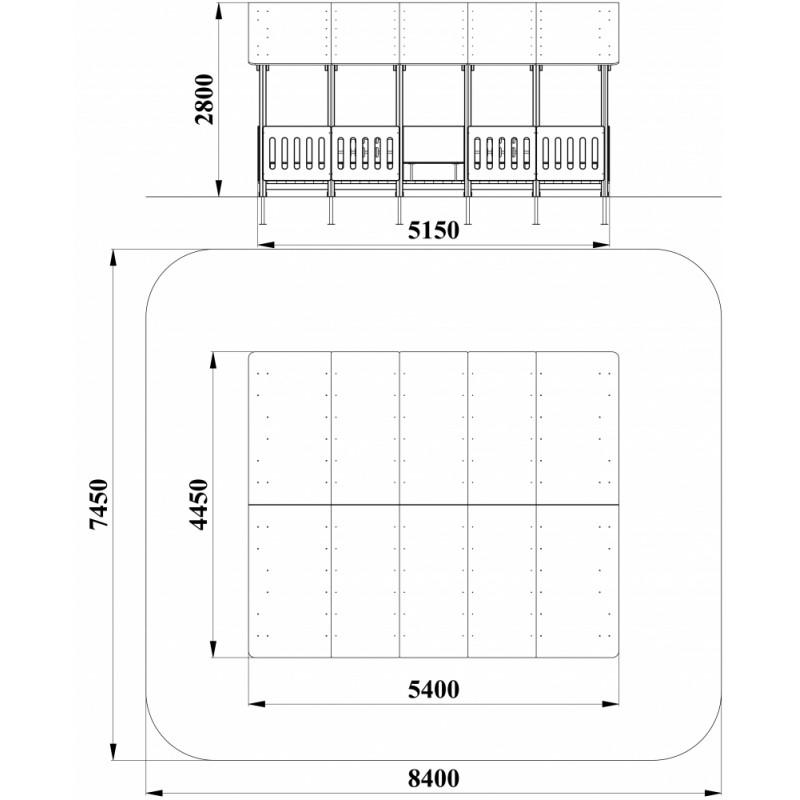 МФ 5.192 Веранда деревянная 5х4