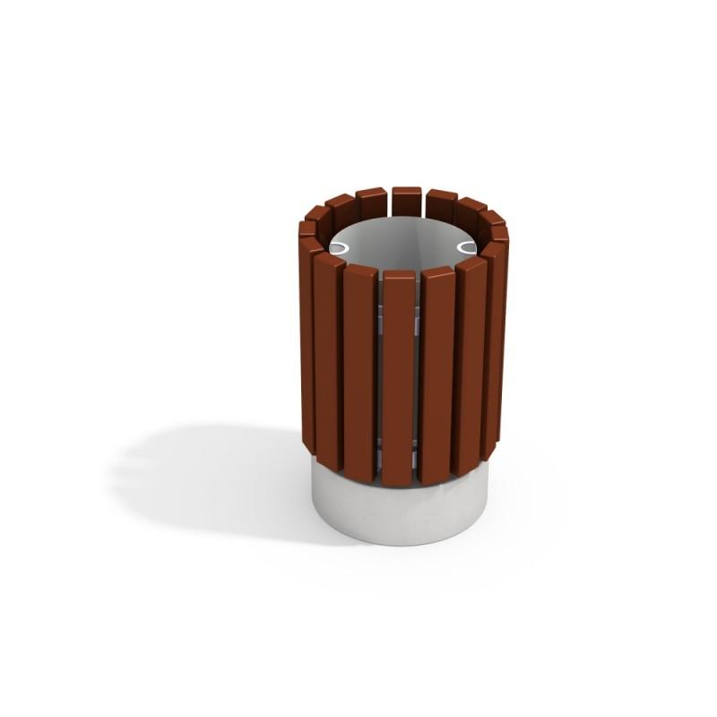 МФ 6.065 Урна круглая деревянная на ж/б основании