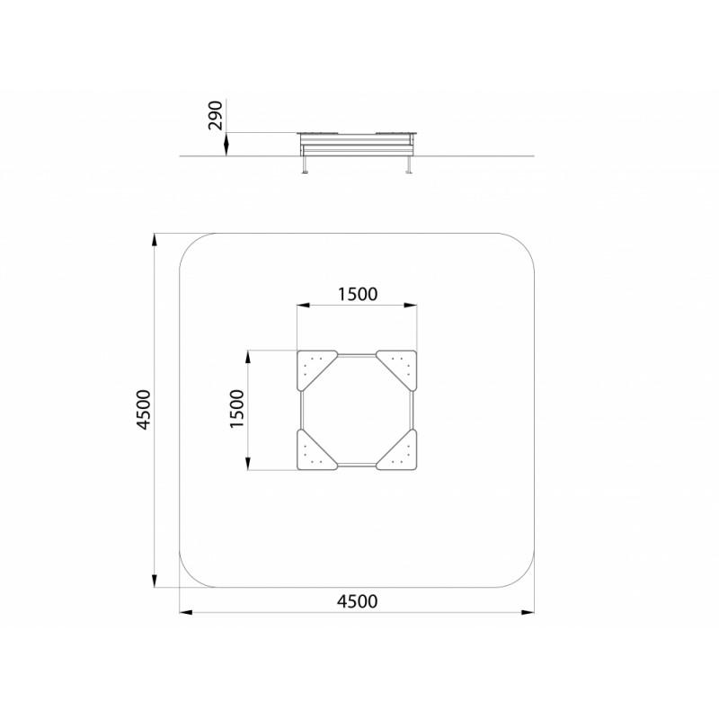 МФ 3.01 Песочница L=1500 мм
