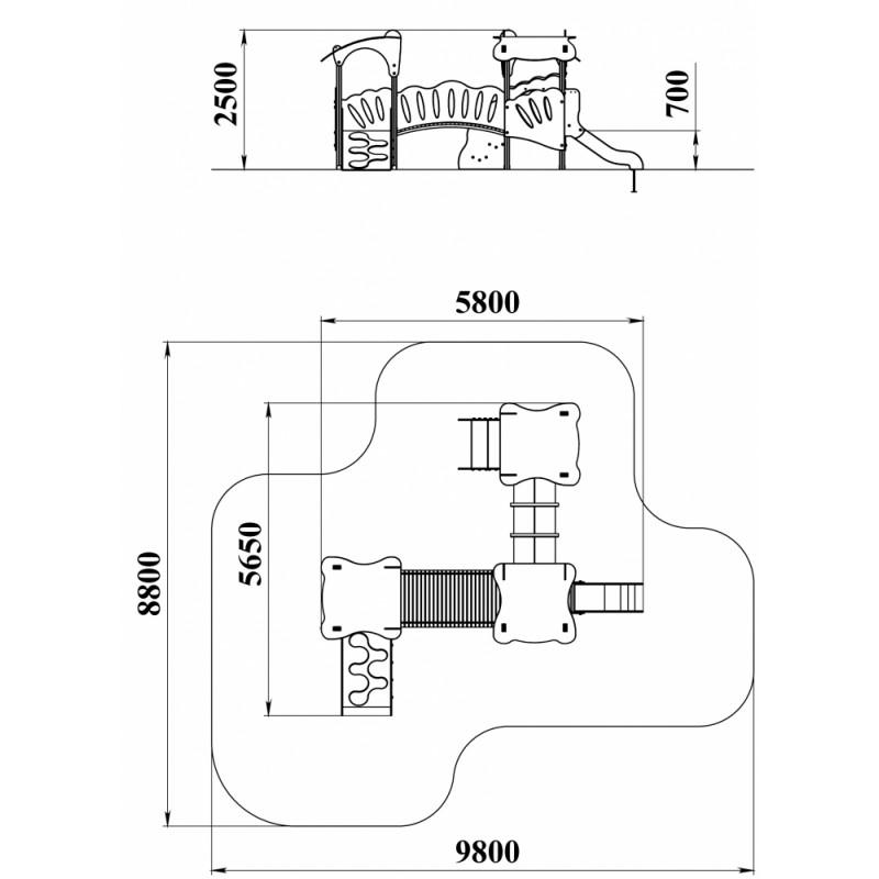 ДИК 3.25-К15 Детский игровой комплекс Сказка Гном Н=700