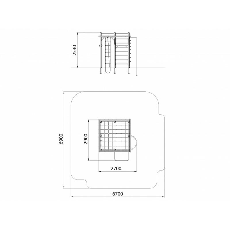 СО 1.12 Спортивный комплекс Горизонтальная сеть